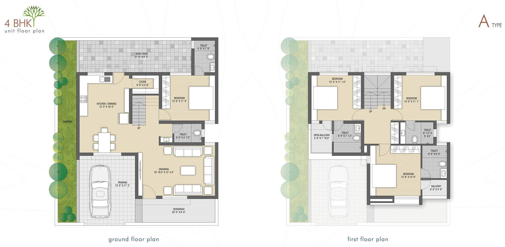 4 bhk home plan house design plans for House layout plan